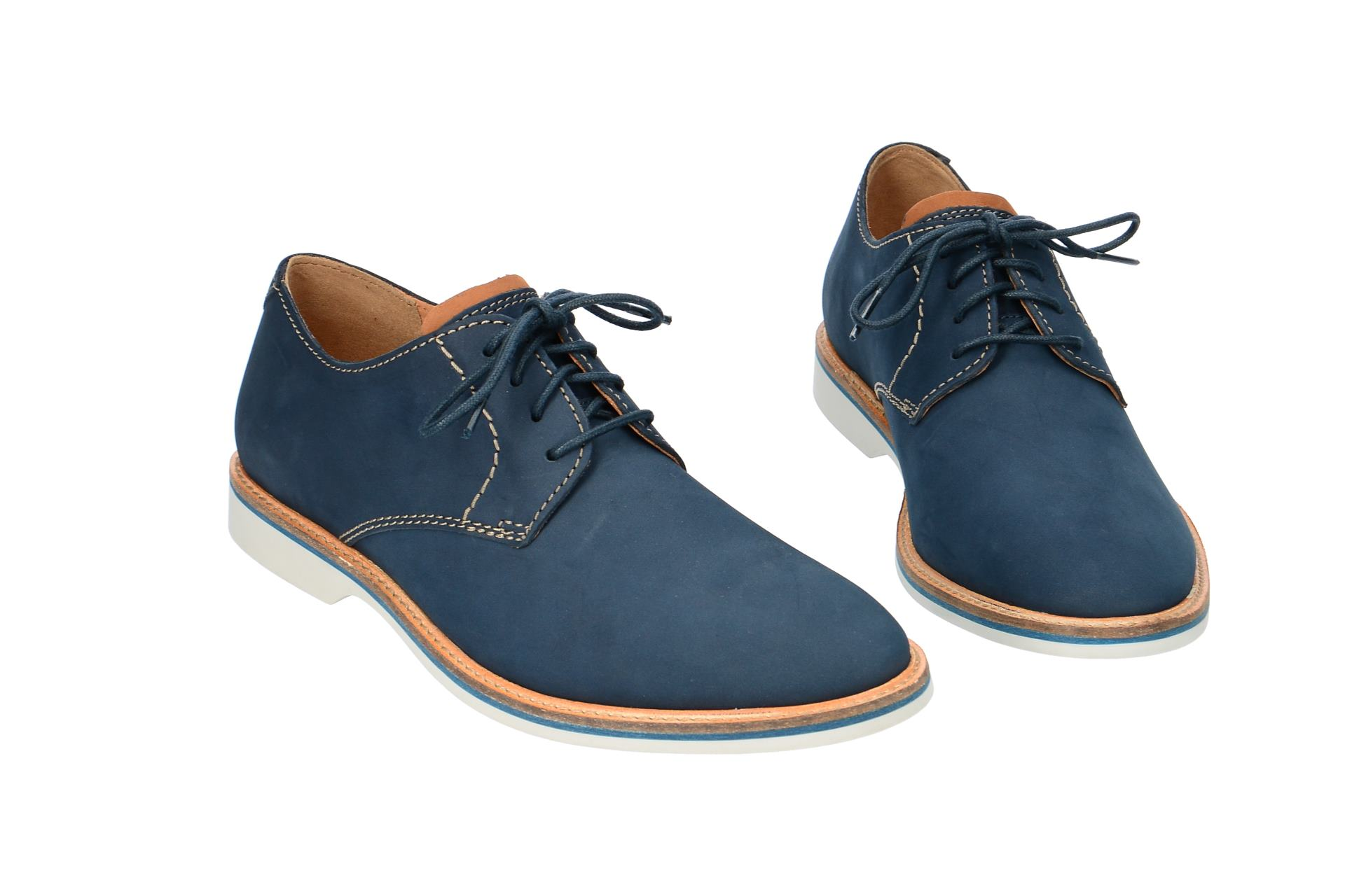 Details zu Clarks ATTICUS LACE Herrenschuhe elegante Halbschuhe Schnürschuhe blau